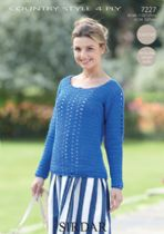 Sirdar Country Style 4ply - 7227 Crochet Sweater Pattern
